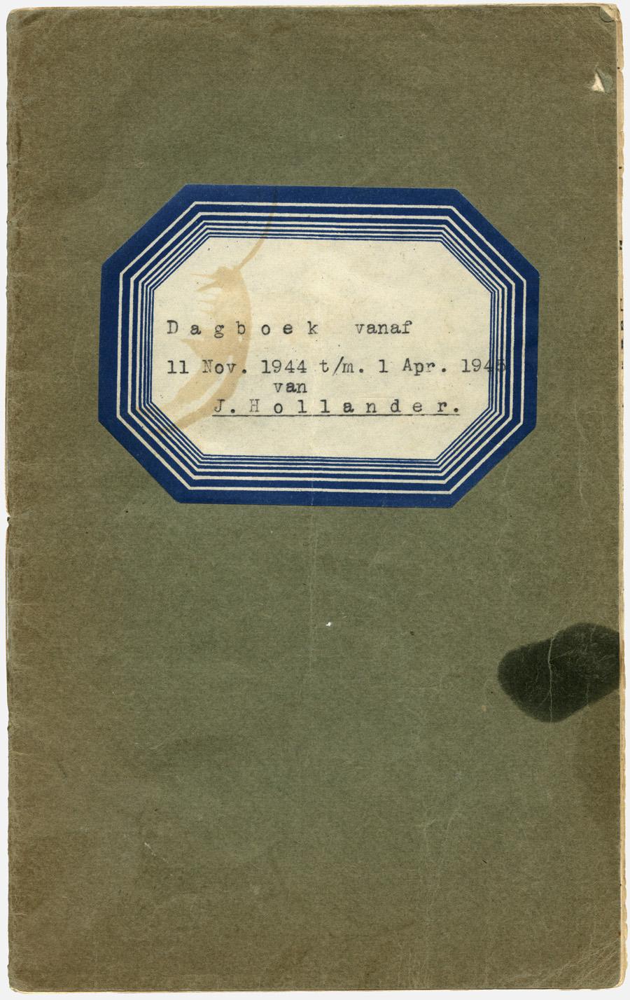 Dagboek J. Hollander