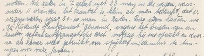 Fragment uit dagboek Bouts
