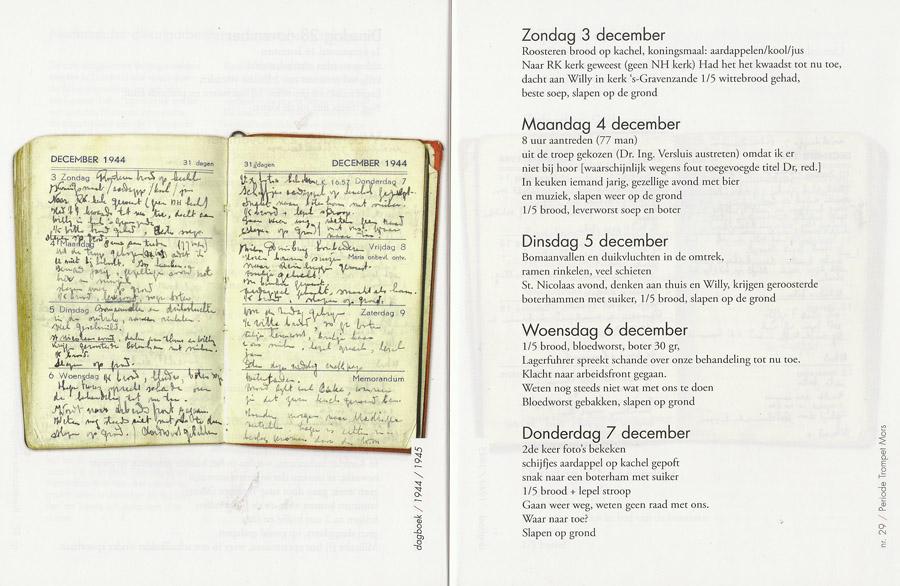 John Versluis houdt in zijn dagboek bij wat hij eet.